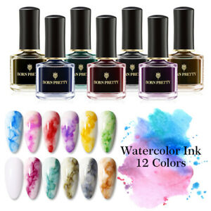 BORN PRETTY Nail Polish Gel Watercolor Ink Gradient Marble Blossom Varnish 6ml