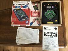 Vintage ENTEX Handheld Electronic Baseball Game 1979 TESTED & WORKS with box