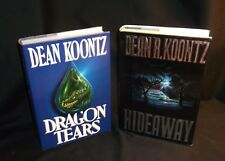 Dragon Tears & Hideaway By Dean Koontz (1993 & 1992 Hardcovers)