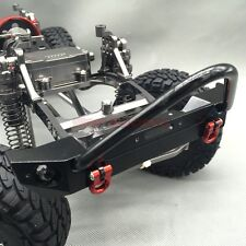 RC 1/10 Axial SCX10 CNC Machined FULL METAL Front Bumper With Tow Shackles Black