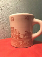 Vtg Wallace China Chuck Wagon Mug Coffee Cup Western Cowboy Cowgirl Restaurant