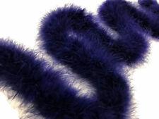 2 Yards - Navy Blue Turkey Medium Weight Marabou Feather Boa 25 Gram Halloween