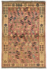 Vintage Tribal Oriental Qashqai Rug, 3'x5', Red, Hand-Knotted Wool Pile