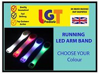 SAFETY FLASHING LED LIGHT UP ARM BAND HIKING RUNNING BIKE CYCLING ARMBAND.