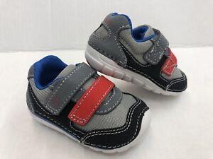 New! Stride Rite SM Mason Sneaker Boys Size 3M gray/black