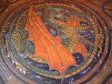 Antike Holztruhe mit Drachenmotiven Schatzdruhe Drachen Truhe Kerbschnitzerei