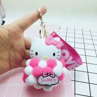 Key Chain Hello Kitty Cat Keyring Keychain Charm Pendant Bag Purse Car Doll Ball