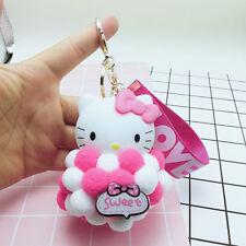 Key Chain Hello Kitty Cat Keyring Keychain Charm Pendant Bag Purse Car Doll Ball
