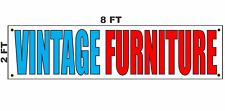 Vintage Furniture Banner Sign 2x8