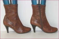 JONAK Bottines à talons Simili Cuir Marron T 39 TBE