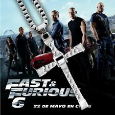 THE FAST and The FURIOUS 7 Dominic Toretto's CROSS Chain Silver Pendant Necklace