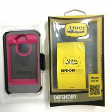 OtterBox Defender Series Case Apple iPhone 4/4S Pink Gunmetal Grey Clip Holster