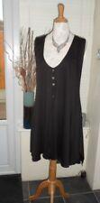 Long Black Slimming Waistcoat Caroline Ann Size 22-24 - New