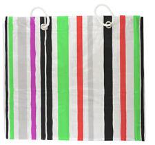 Duschvorhang Design Streifen 200x180 Badvorhang gestreift weiß rot grün schwarz