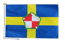 More details for pembrokeshire sir benfro flag with rope and toggle - various sizes