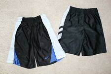 Boys XS 4/5 Athletic Shorts x2 Polyester Black