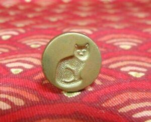 "Vintage Brass ""House Cat"" Sealing Wax Stamp Seal"