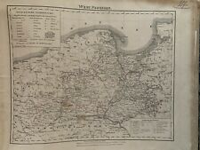 1854 WEST PRUSSIA ORIGINAL ANTIQUE HAND COLOURED MAP BY CARL FLEMMING