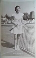 FRY SHIRLEY 1950's ORIGINAL PHOTOGRAPHIC TENNIS POSTCARD