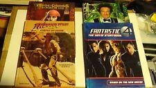 LOT of 4 Movie Storybooks - Pirates Caribbean Indiana Jones Fantastic 4 Flubber
