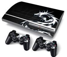 PS3 Playstation 3 original peau autocollants PVC pour console & 2 pads Dragon tiball