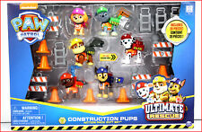 20 pc- Paw Patrol Ultimate CONSTRUCTION Action Pack PUPS Set - 6 Pups & Backpack