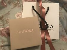 Pandora Leather Bracelet Box with Pandora Gift Bag