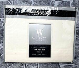 Wamsutta Bedskirt King Double Flange 78 x 80 Ivory Split Corner NEW! Ships Free!