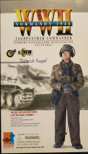 "DIETRICH KOPPE WW II GERMAN JAGFPANTHER COMMANDER ""NORMANDY 1944""  ACTION FIGURE"