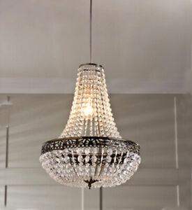 Large  Victoria Jewelled Chandelier Light Ceiling Pendant Deco