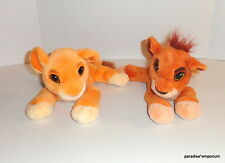 Disney Lion King Kovu Kiara Plush Set Lot PURRING Simbas Pride 1998 Mattel P76