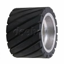 7x5cm Tooth-surface Rubber Wheel With Aluminum Core for Belt Grinder