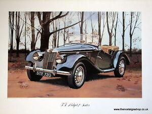 MG T F Midget 2 - Seater. Vintage Car Print. MG Print.
