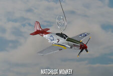 Bomber Escort Bunnie P-51 Mustang USAF Christmas Ornament Airplane Aircraft P51
