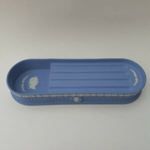 Wedgwood Jasperware - Wedgwood Blue - 10 Inch Desk Tidy / Pen / Pencil Tray