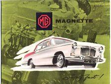 MG Magnette Mk.III brochure Prospekt, 1959