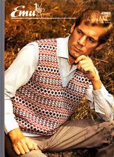 Emu Knitting Pattern, Mans Fairisle Slipover, 4903, 31-40in