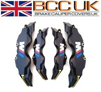 NEW Black Brake Caliper Covers DIY Kit White ///M Logo Front Rear 4M+S fits BMW