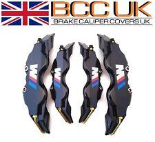 NEW Black Brake Caliper Covers DIY Kit White ///M Logo Front Rear 4M+S fits BMW