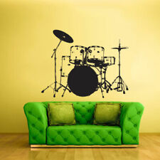 Wall Vinyl Sticker Bedroom Decal Drum Bass Instruments Music (Z2171)