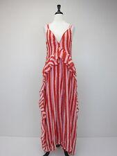 a494cec96f66 Nasty Gal Women s Striped Cami Maxi Dress US 8 Red NWT