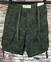 Abercrombie & Fitch Camo Cargo Shorts Men's Size 29