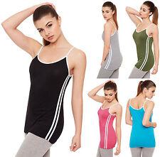 Hüftlang Damenblusen,-Tops & -Shirts im Trägertops-Stil mit V-Ausschnitt für Freizeit
