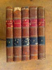 Tacite traduit par Dureau de la Malle. Tomes 1 à 5 (sur 6). - 1827 -