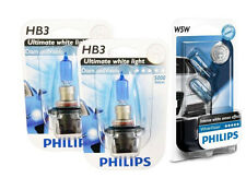 (+W5W Parkers!) HB3 9005 PHILIPS Diamond Vision 5000K White Head Light Bulbs
