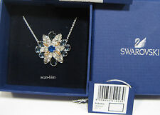 Swarovski Shourouk Round Blue Pendant Floral Motif Crystal  5051923