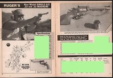 1981 Rugernew Model Single-Six Revolver Evaluation Article Exploded View Parts