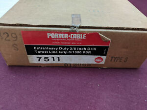 PORTER CABLE EX HEAVY DUTY ELECTRIC DRILL CORDED 3/8 VARIABLE SPEED #7511