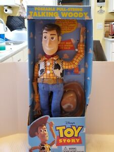 Toy Story-  Rare 1st Poseable Talking Woody Doll 1995