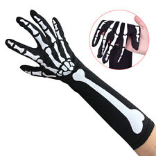 Punk Skeleton Gloves Boys Girls 3D Bones Hands Halloween Costume Cosplay Glov_j$